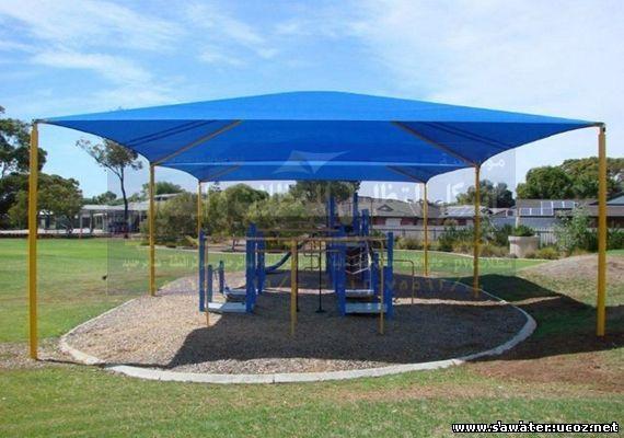 مظلات حدائق pvc